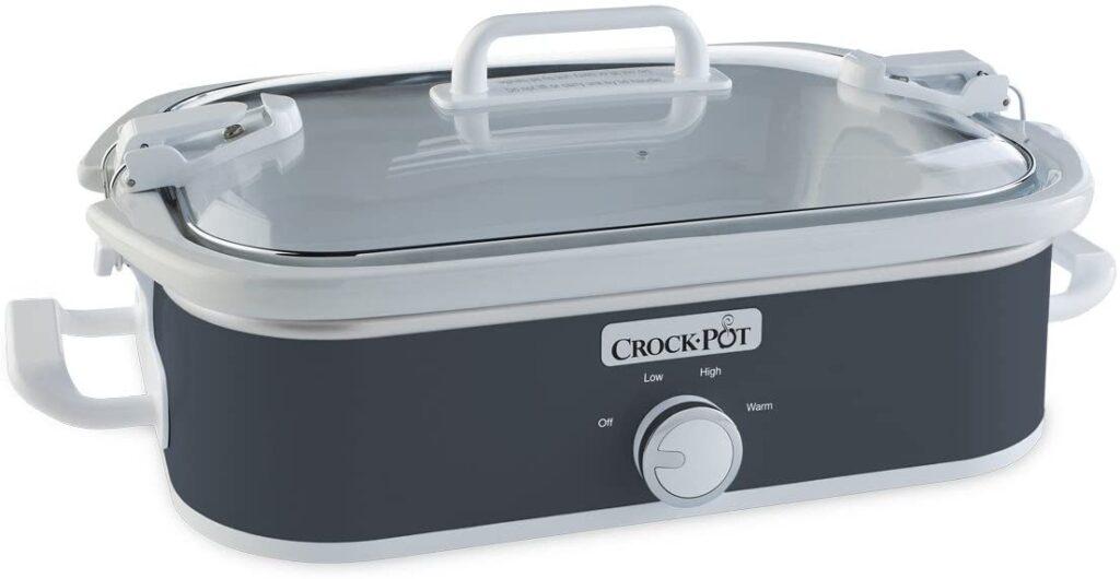 Crock-Pot 3.5 Quart Casserole Manual Slow Cooker, Charcoal
