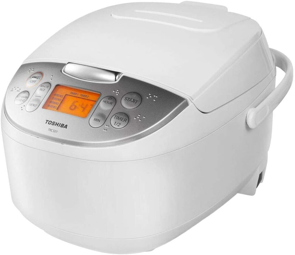 best multi cooker 2021 - toshiba trcs01 6 cups