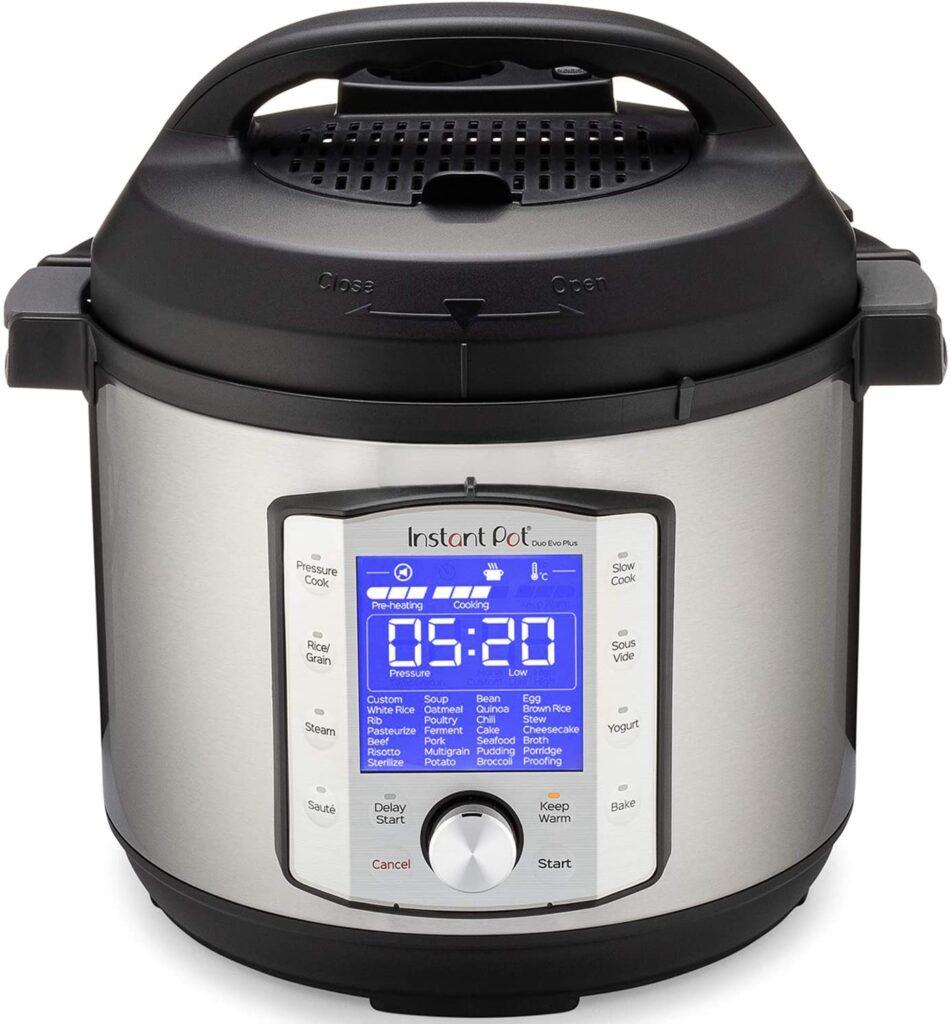 Instant Pot Duo Evo Plus Pressure Cooker 10 in 1 spaghetti